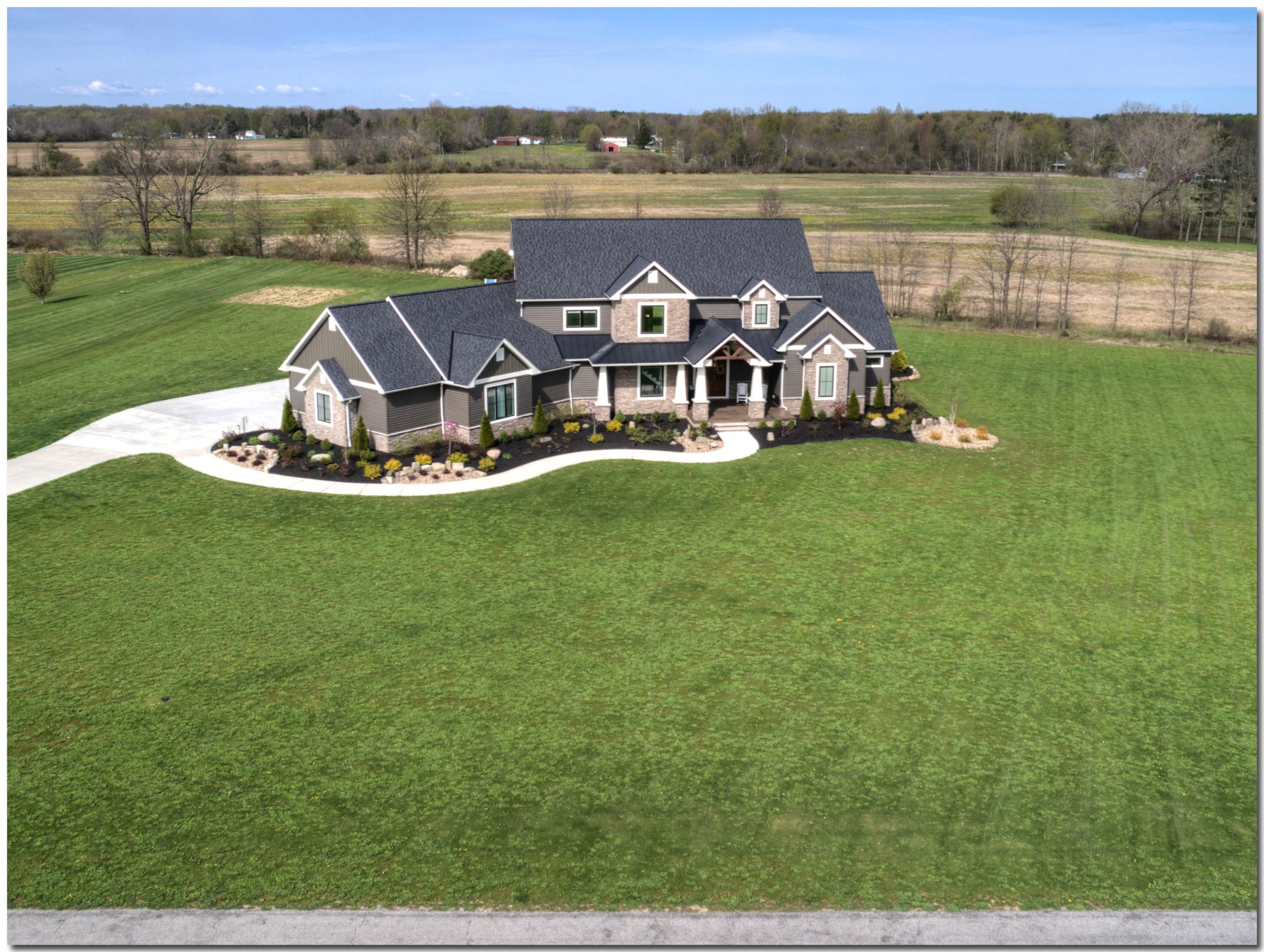 Highland Finished House Front Drone